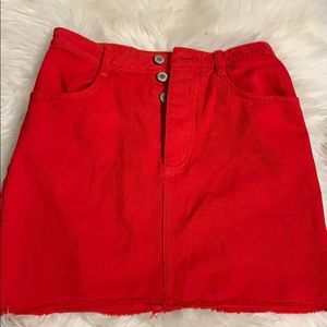 red skirt (pacsun)